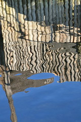Wooden reflection on water (Jeanne Menj) Tags: lakeconstance wooden reflection water abstract reflet eau bois