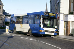 1993-09-21 J620 UHN MAN 11.190-Optare Vecta 1502 of TMS on hire to United,  Darlington (John Carter 1962) Tags: bus buses tms united uas unitedauto