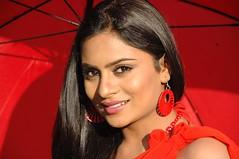 South Actress Deepika Das Hot in Red Sari Photos Set-5 (2)