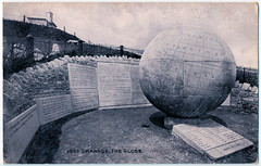 Swanage - The Great Globe (pepandtim) Tags: postcard old early nostalgia nostalgic swanage great globe sepiatone series photochrom co ltd london tunbridge wells printed england 14081917 1917 paddle woodfield avenue ealing pencilled dorothy topping time lovely weather sand elsie 89sgg53 republic china war4 germany austria hungary publication papal note belligerent nations proposals peace ignored