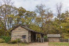 Martin Waddell Residence (Larry Senalik) Tags: 2016 canon dslr home illinois lincoln new salem state t3i autumn cabin fall historic log site
