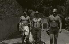 Egyptian Albanese Bulgarian (Jaroslav Zlamal) Tags: italy summer coast sea workmates chefs swimming liguria varraze praktica baw monochrome