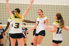 Women's Varsity Volleyball vs. Canadore-36 (centennial_colts) Tags: scream green centennial college ocaa ocaacentennialcolts colts womens volleyball varsity 2016
