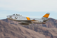 Planes of Fame North American F-86F Sabre NX186AM (jbp274) Tags: lsv klsv airport airplanes nellis nellisafb aviationnation airshow display planesoffame northamerican f86 sabre warbird vintage restored