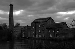 Mill in the gloom. (pstone646) Tags: mill nature monochrome blackandwhite sky building lake kent tonge architecture reflections