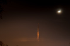 Norwich Cathedral (m.stevenson1983) Tags: norwich weather fog moon night cold freezing