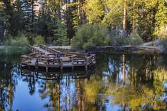 Jenks Lake (squeemu) Tags: water reflect pier fishing woods trees southern california jenks