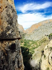 """Great day doing the """"World most dangerous walkway"""" pleased to say some new hand rails have been fitted on some sections #caminitradelrey #iphonephoto @andulucia (victoriansweetcartcompany) Tags: iphonephoto"""