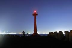 Enjoy the night fishing and night breeze. (Go Go Janet) Tags: lighthouse fishing fishingpole motorcycle leisure seaside lighttrails