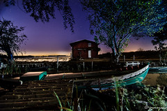 Portet Sollana (josemanuel945) Tags: valencia albufera iluminacin linterna noche nocturna perello talleriluminacion sollana barcas arrozales casa
