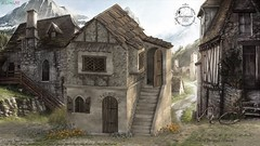 [NC] - Old Village House 1/3 (niki8901 - andycool90 ,Secondlife, Gor, Roleplay) Tags: niki8901 andycool90 nc noblecreations medieval we3roleplay wlr wlrp gor gorean fantasy sl secondlife slevents slfashion