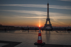The Light (julialarrigue) Tags: eiffeltower eiffel exterieur paris forcedperspective sky sunrise france