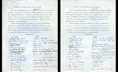 Signed Petition (Regional History Center & NIU Archives) Tags: boycott demonstration protest niu northernillinoisuniversity student petition dekalb activism