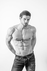 Luca (Anghellos) Tags: model man beautiful blackandwhite fashion fitness body muscle portrait portraits