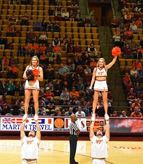 HOKIE CHEERLEADERS (SneakinDeacon) Tags: vt vatech hokies virginiatech cassellcoliseum cheerleaders basketball hawks marylandeasternshore