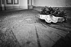 Strauß (chipsmitmayo) Tags: nikon f100 nikkor 24mm f28 weitwinkel wide angle kodak trix 400 adonal rodinal 150 film analog schwarzweiss blackandwhite selfprocessed selbstentwickelt selfdeveloped canoscan 9000f münsterland westfalen teppich straus scherben glas vignette bod foor carpet flowers