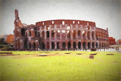 Rome 1 (Bucky-D) Tags: colosseum fz1000 architecture europetrip building 2016 italy rome cavemandweller topaz topazimpressions2