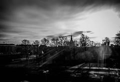Sunlight bw (densshod) Tags: sweden sky sun sunlight sunburst outdoor olympus out contrast clouds cloudsstormssunsetssunrises blackandwhite blackwhite blur monochrome halmstad halland horizon
