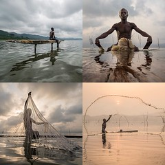 """Here's the first portfolio that granted me the overall winning prize of """"Travel Photographer Of The Year(#tpoty)"""" 2016. It portrays the unique life of Lake Bosumtwi's fisherman, Ghana, a sacred lake inside a crater created one million years ago by a meteo (Joel Santos - Photography) Tags: instagram heres first portfolio that granted me overall winning prize travelphotographeroftheyeartpoty 2016 it portrays unique life lake bosumtwis fisherman ghana sacred inside crater created one million years ago by meteorite impact according local beliefs they can only fish using paduas wooden planks tradicional fishing nets otherwise bad omen might fall upon them prevent"""