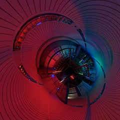 Nightlight (edwardhorsford) Tags: secret cinema 20 secretcinema20 london future film mystery fantasy 40s 80s futurism good org goodorg job employment career croydon bt building brazil terry gilliam bureaucrat panoramic panorama 360 virtual reality stitched stereographic little planet world sphere