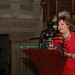 Fiona Hyslop speaking at the Edinburgh Castle Reception
