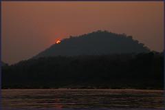 Sunset over Mekong_2835 (Dutch Simba) Tags: trip travel river buddhism caves laos mekong luangprabang excursion travelphotography pakou banpakou tamting