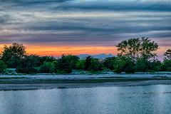 The Setting Sun (Digital World of Paul) Tags: trees sunset ny newyork water clouds landscape li harbor sand nikon stonybrook 85mm longisland hdr liny stonybrookharbor originalphotography nikon85mmf14g retinaresolution artistsontumblr d800e nikond800e lensblr photographersontumblr