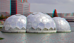 Floating Pavilion 3D (wim hoppenbrouwers) Tags: 3d rotterdam anaglyph stereo kopvanzuid redcyan rijnhaven stereopicture floatingpavilion rijnhavenpaviljoen