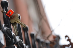 Keys (thoth1618) Tags: nyc newyorkcity ny newyork brooklyn fence keys bokeh clintonhill photooftheday