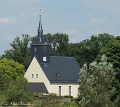Kirche zu Langenstriegis (peterphot) Tags: trees animals pferde aktion frankenberg mittelsachsen august2013