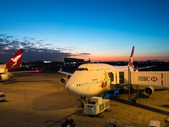 (-spam-) Tags: newzealand sky holiday weather plane sunrise airport olympus brisbane qantas 747 ep5 microfourthirds mu43