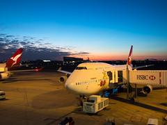 (-spam-) Tags: newzealand sky holiday weather plane sunrise airport olympus brisbane qantas 747 ep5 microfourthirds mu43