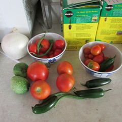 Today's crop (creed_400) Tags: summer west green beans belmont michigan tomatoes august peppers