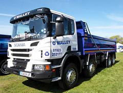 O'Malley Scania P400 Tipper truck Truckfest Peterborough 2013 (davidseall) Tags: uk truck tipper large 8 goods lorry vehicle heavy eight peterborough cambridgeshire scania haulage truckfest hgv lgv p400 2013 vjf legger ei13 eu13vjf