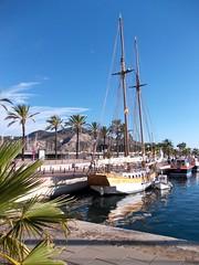 DSCN1376 (Karl Görg) Tags: harbor spain nikon cartagena spanien sailingboat nikoncoolpixl25