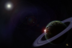 Deep in Space (m78kem) Tags: art digital photoshop space rings planet cs6