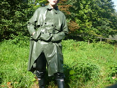 Latex Rubber Mackintosh in olive (lulax40) Tags: mask rubber latex rubberboots rainwear rubberpants mackintosh rubberfetish rubberman regenmantel regenkleidung rubberist rubberslave rubbergear mackintoshrubberrainwearsbrregenkleidunggummishiny rubberraingear