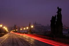 Charles bridge - Prague (Smits Fotografie) Tags: longexposure morning bridge prague charles praha most praag karluv karlova karelsbrug