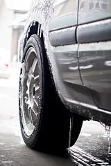 PA270024 (_KPGRAFIX) Tags: winter snow grey bucket rust wheels rusty chillin rustbucket 1992 mazda icicles hatchback beater rota 2door mazda323 2dr wetsnow winterbeater rotawheels 16x7