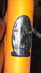 Grisley (USA) bicycle head badge logo (hugovk) Tags: cameraphone autumn usa bike bicycle logo cycling nokia october head badge cycle hvk syksy polkupyörä carlzeiss headbadge 808 fillari 2013 hugovk grisley camera:make=nokia exif:focallength=80mm exif:isospeed=125 pureview exif:flash=onfired exif:aperture=24 nokia808pureview exif:orientation=horizontalnormal camera:model=808pureview exif:exposurebias=0 exif:exposure=1346 grisleyusabicycleheadbadgelogo meta:exif=1383167897