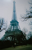 La Tour Eiffel (Melissa O'Donohue) Tags: travel paris france classic film beautiful architecture vintage french march spring iron europe pretty awesome wroughtiron eiffeltower eiffel 2006 wanderlust latoureiffel champdemars huge disposablecamera worldsfair traveler gustaveeiffel puddlediron