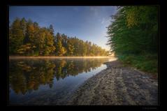 Bear beach (Kemoauc) Tags: autumn light reflection beach sunrise nikon stuttgart hdr jrg topaz schwaben swabian brensee photomatix lndle d300s kemoauc sentko