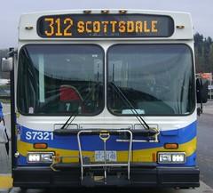 S7321 (Juan_M._Sanchez) Tags: new bus station vancouver flyer loop 1999 stop translink d40lf cmbc