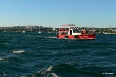 Севастополь, поездка на катере по Севастопольской бухте, рядом такие же ещё )