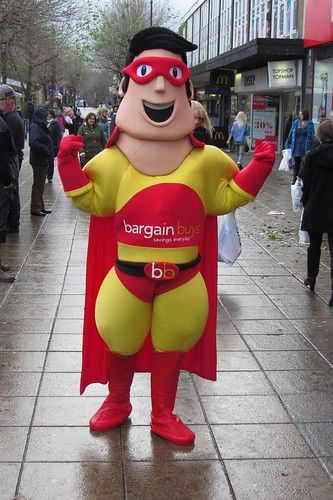Bargain Buys opening day, Ashton-under-Lyne: BB Mascot