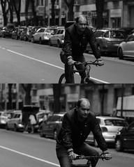 [La Mia Citt][Pedala] (Urca) Tags: portrait blackandwhite bw italia milano bn ciclista biancoenero bicicletta pedalare 2013 dittico ritrattostradale nikondigitalefilippetta 59665