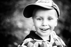 Happy Hugo (Erica Gilbertson) Tags: boy portrait people blackandwhite bw baby man cute smile smiling canon children happy child sweden teeth swedish cutie cap 5d hugo vsco canoneos5dmarkii 5dmarkii canon5dmarkii vscofilm