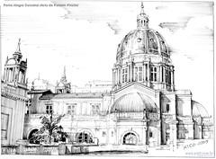 Porto Alegre Catedral vista do Palácio Piratini