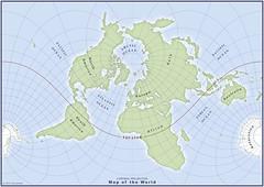 """My """"Proehl Projection"""" Map of the World (amproehl) Tags: world map amproehl"""