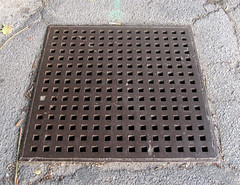 (SA_Steve) Tags: metal grid iron pattern patterns holes cover infrastructure
